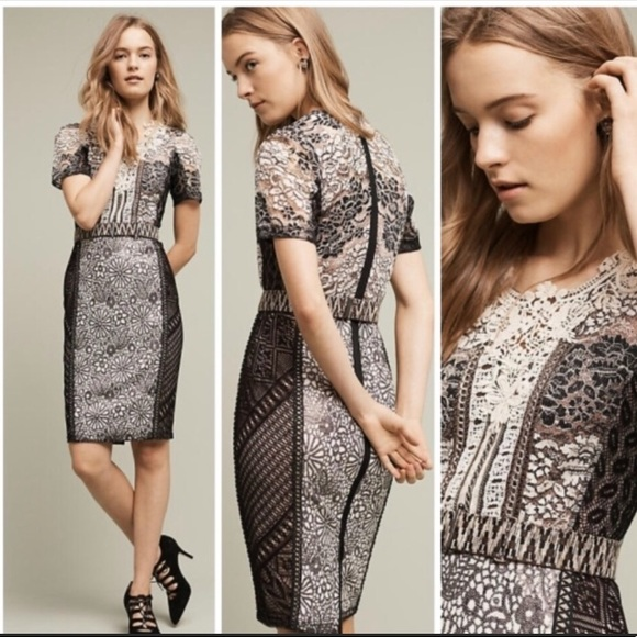 61b8264a29e7 Byron Lars Dresses | Anthropologie Pencil Dress | Poshmark